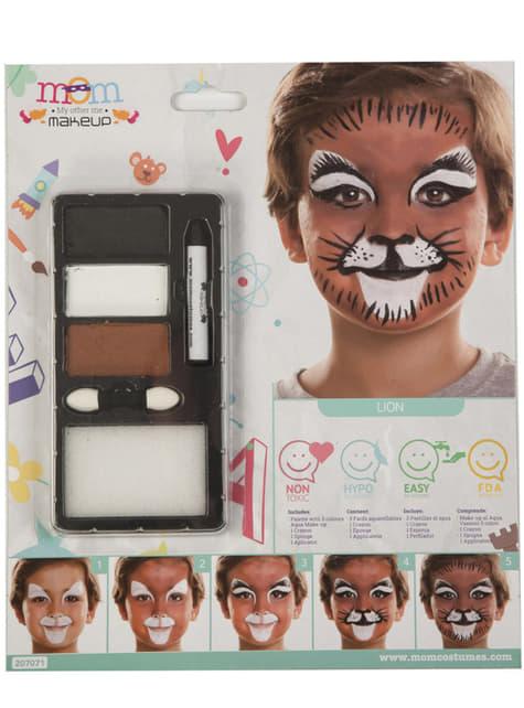 Maquillaje de león infantil
