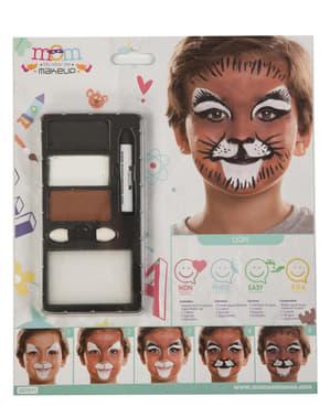 Лев макіяж для дітей