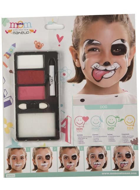 Maquillaje de perro dálmata infantil