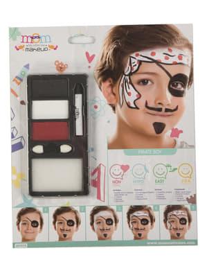 Maquillaje de pirata para niño