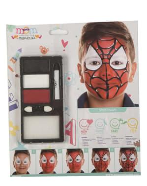 Maquillaje de araña humana para niño