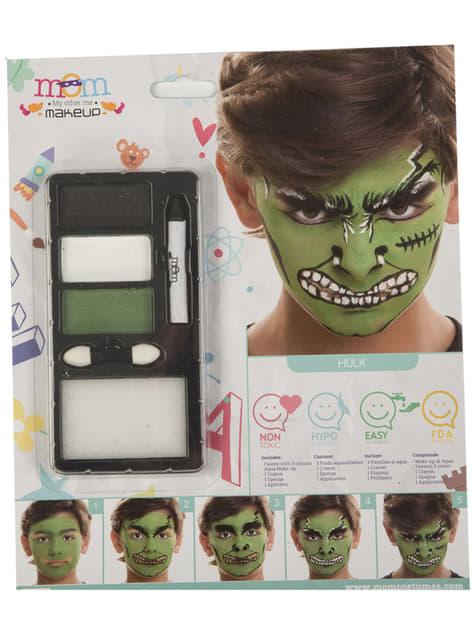 Maquillaje de bestia verde para niño