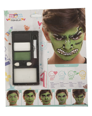 Trucco da bestia verde per bambino