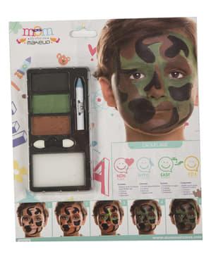 Militair camouflage make-up voor kinderen
