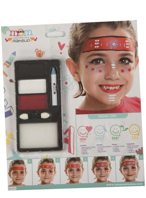 Maquillaje de india rojo infantil