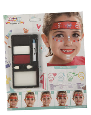 Red Indian make-up for kids