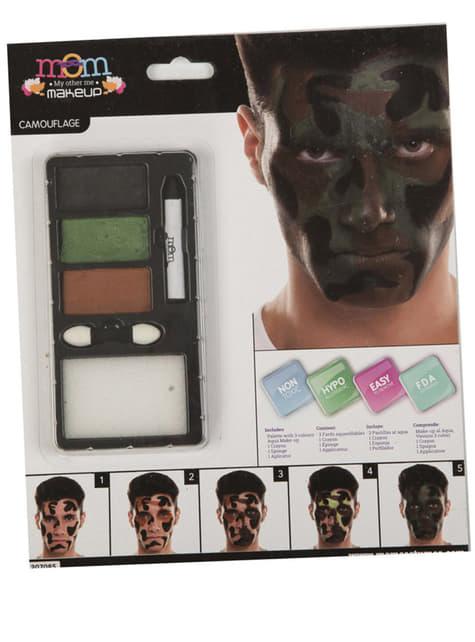 Maquillaje de camuflaje militar para adulto