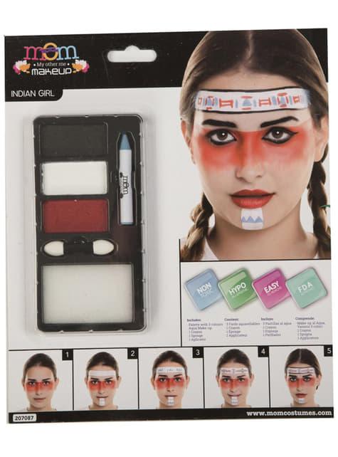 Maquillaje de india blanco para adulto