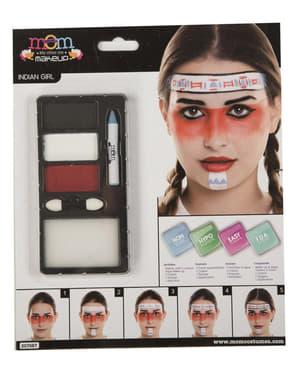 Indianer Make-Up weiß für Erwachsene