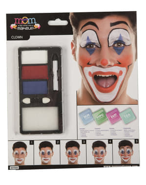 Smiling clown make-up for adults