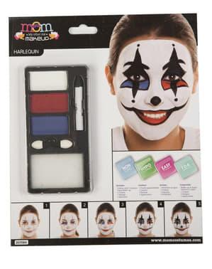 Harlekin Make-Up für Erwachsene