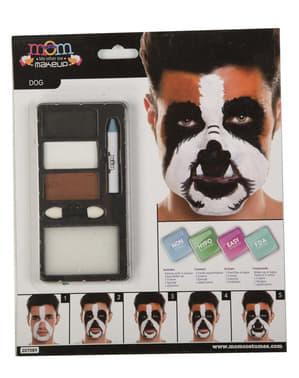 Bruine hond make-up voor volwassenen