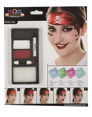 Maquilhagem de pirata vermelha para homem
