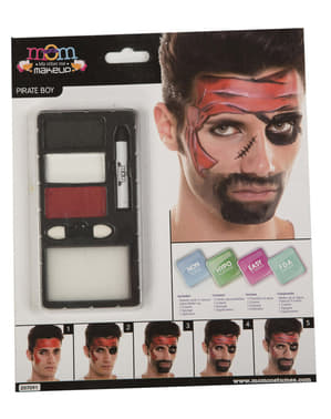 Red Pirate Make-Up for Adults