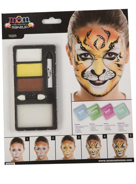 Maquillaje de tigre para adulto