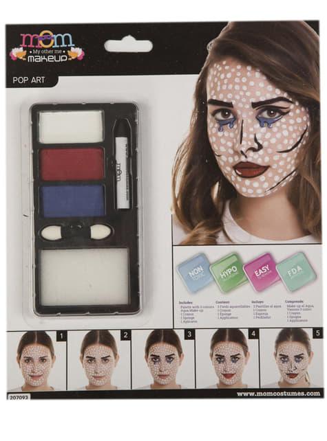 Maquillaje pop art para adulto