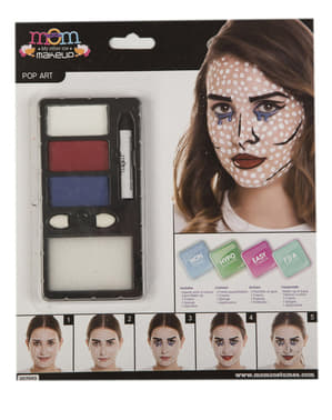 Maquillaje pop art para adulto