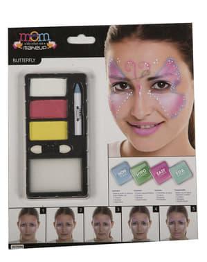 Fuksia sommerfugl make-up til voksne