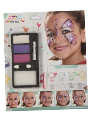 Maquilhagem de borboleta fúcsia infantil