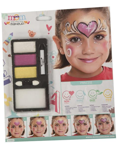 Maquillaje de princesa perlado infantil