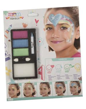 Regnbue make-up til børn
