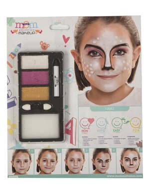 Parel kerst make-up voor kinderen