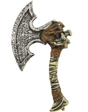 Caveman axe with skulls