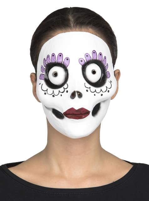 Máscara de día de los muertos Burton style para mujer