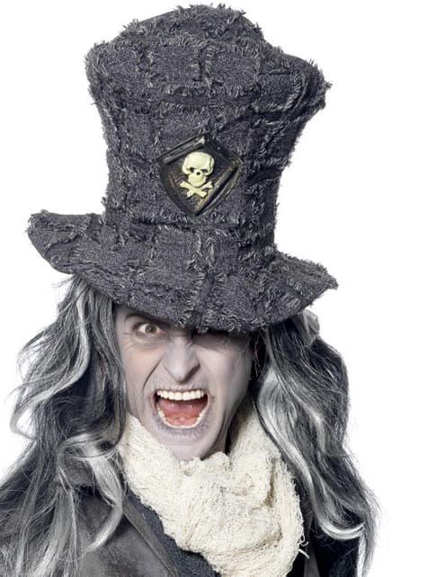 Grey grave digger top hat