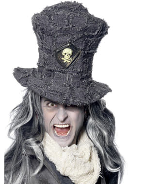 Hoge hoed met doodshoofd