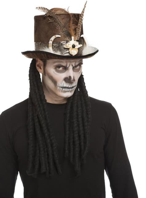 Sombrero de caníbal vudú caníbal para hombre