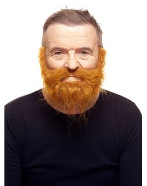 Dichtgewachsener Bart mit Schnurrbart rot
