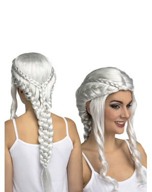 Ασημένια περούκα Khaleesi για τις γυναίκες