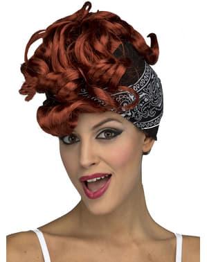 Ruda peruka z lat 40. dla kobiet