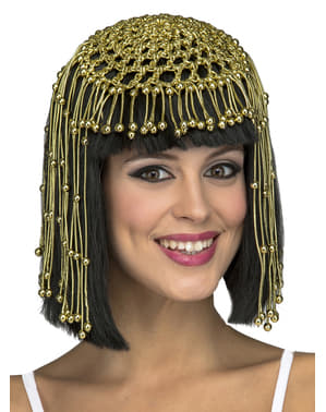 Black egyptian queen wig for women