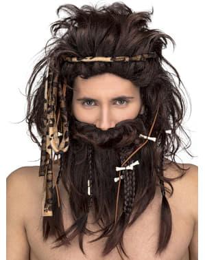 Коричневий печерна перукаря для чоловіків