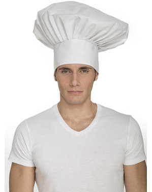 White chef's hat for adults