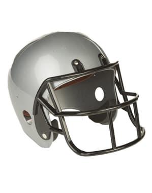 Сив американски футболен шлем за възрастни