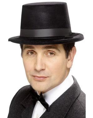 Sort høj hat classic