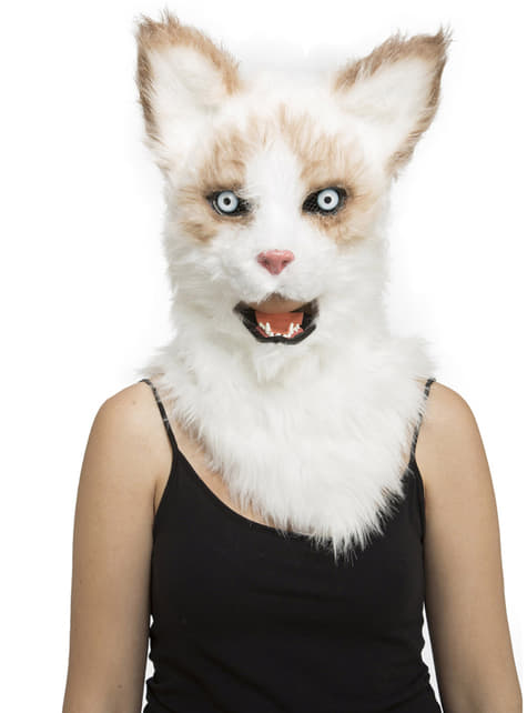 Cat moving mouth mask for adults