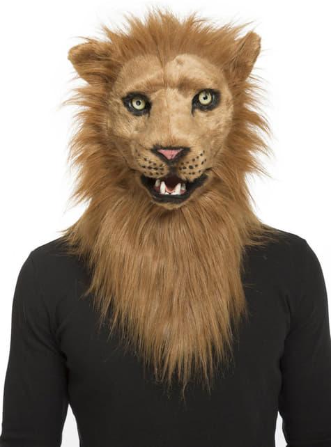Máscara de león moving mouth para adulto