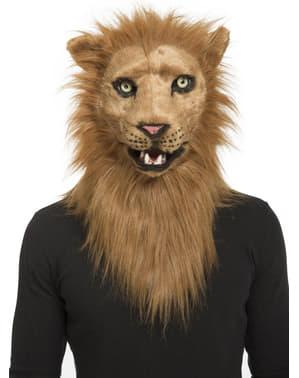 Leeuw masker voor volwassenen met beweegbare kaak