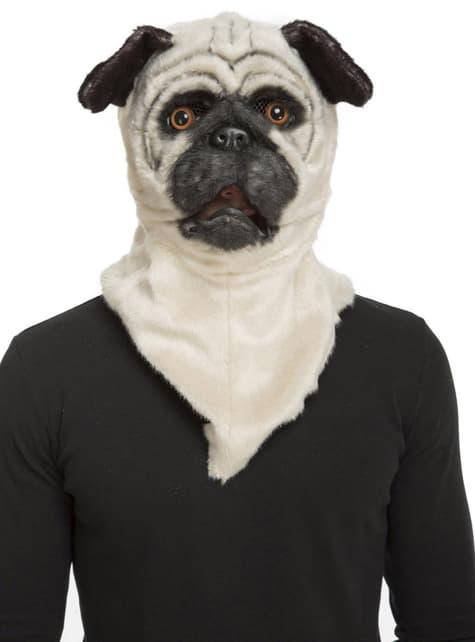 Máscara de Bulldog moving mouth para adulto
