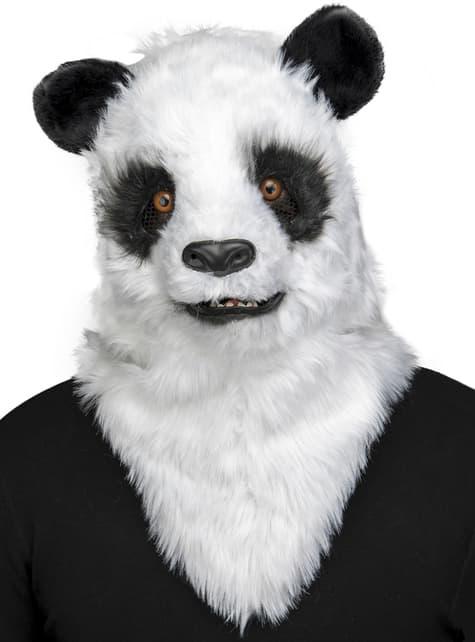 Máscara de oso panda moving mouth para adulto
