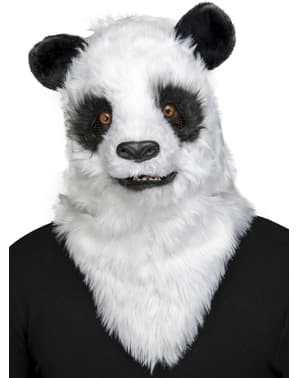 Panda bear moving mouth mask for adults