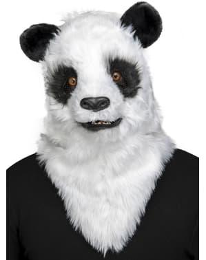 Pandabjørn bevegende munn maske til voksne