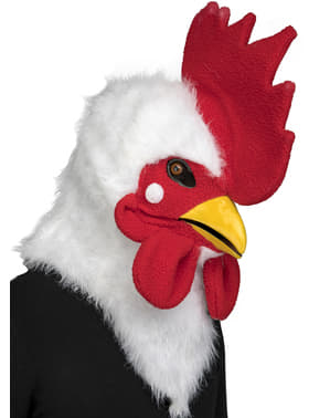 Rooster moving mouth mask for adults