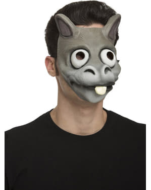 Grey donkey mask for adults