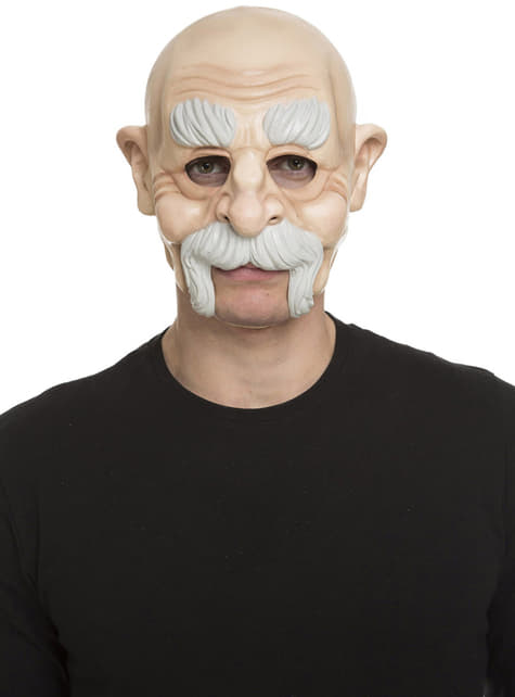 Bald old man mask for adults