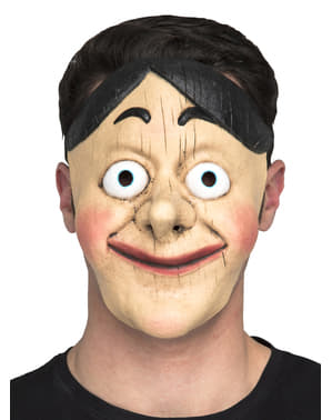 Holzpuppen Maske für Erwachsene